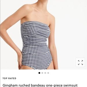 Jcrew Gingham never worn one piece bathing suit